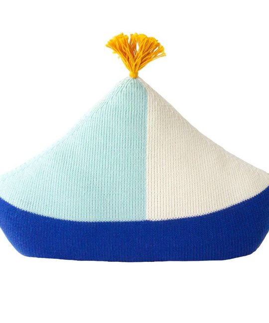 Blabla Blue Boat Knit Pillow