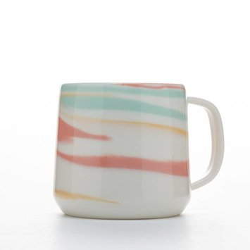 Clay Factor CFHG - White and Multi Color Taffy Mug