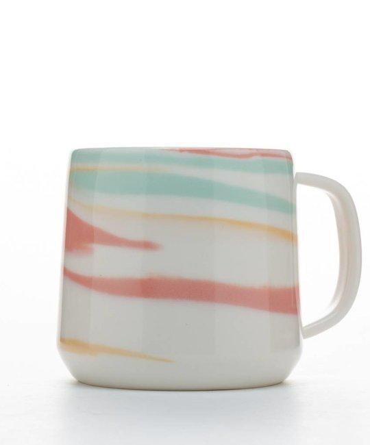 Clay Factor White and Multi Color Taffy Mug