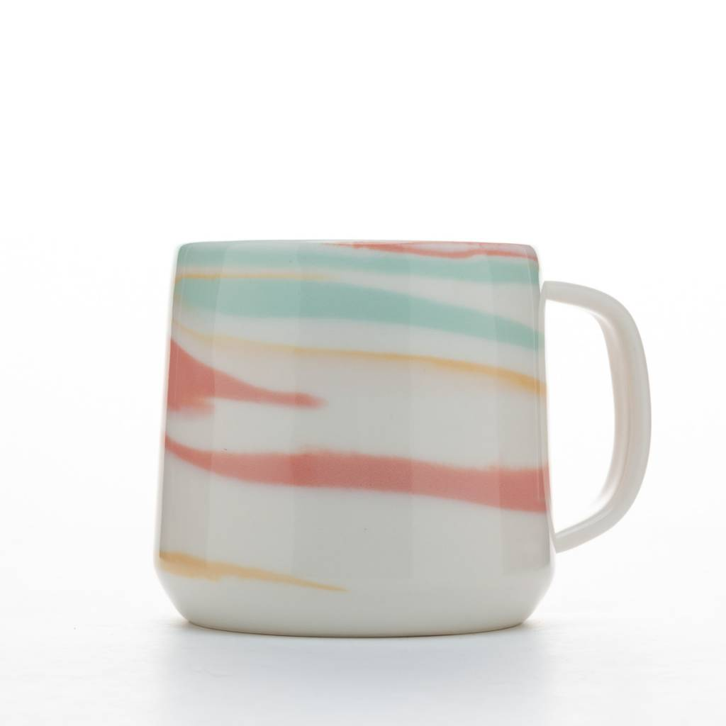 Clay Factor White and Multi Color Taffy Mug