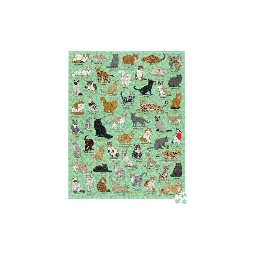 Wild and Wolf Cat Lovers 1000 piece Jigsaw Puzzle