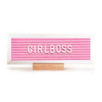 3 potato 4 Desktop Letterboard Pink with Aluminum Frame