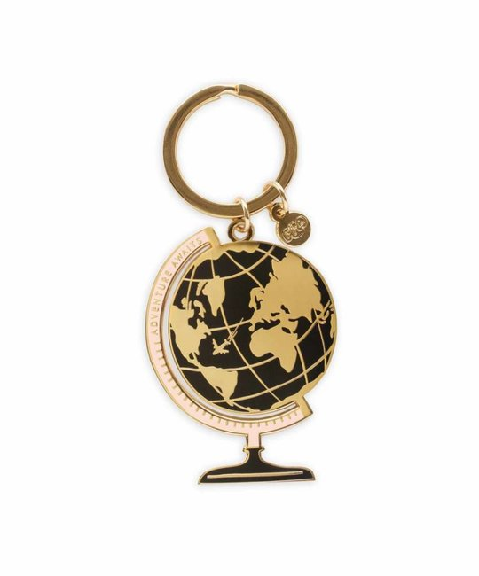 Rifle Paper Co. Globe Enamel Keychain