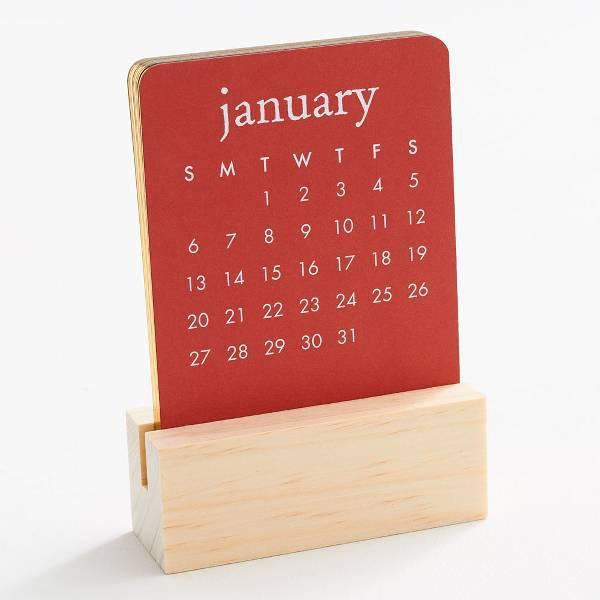 Waste Not Paper Mini Colorscope Easel Desk Calendar