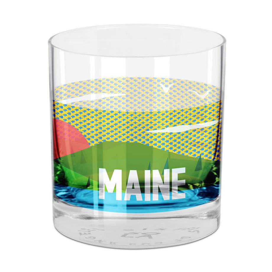 People Places & Things Single Maine Rocks Glass