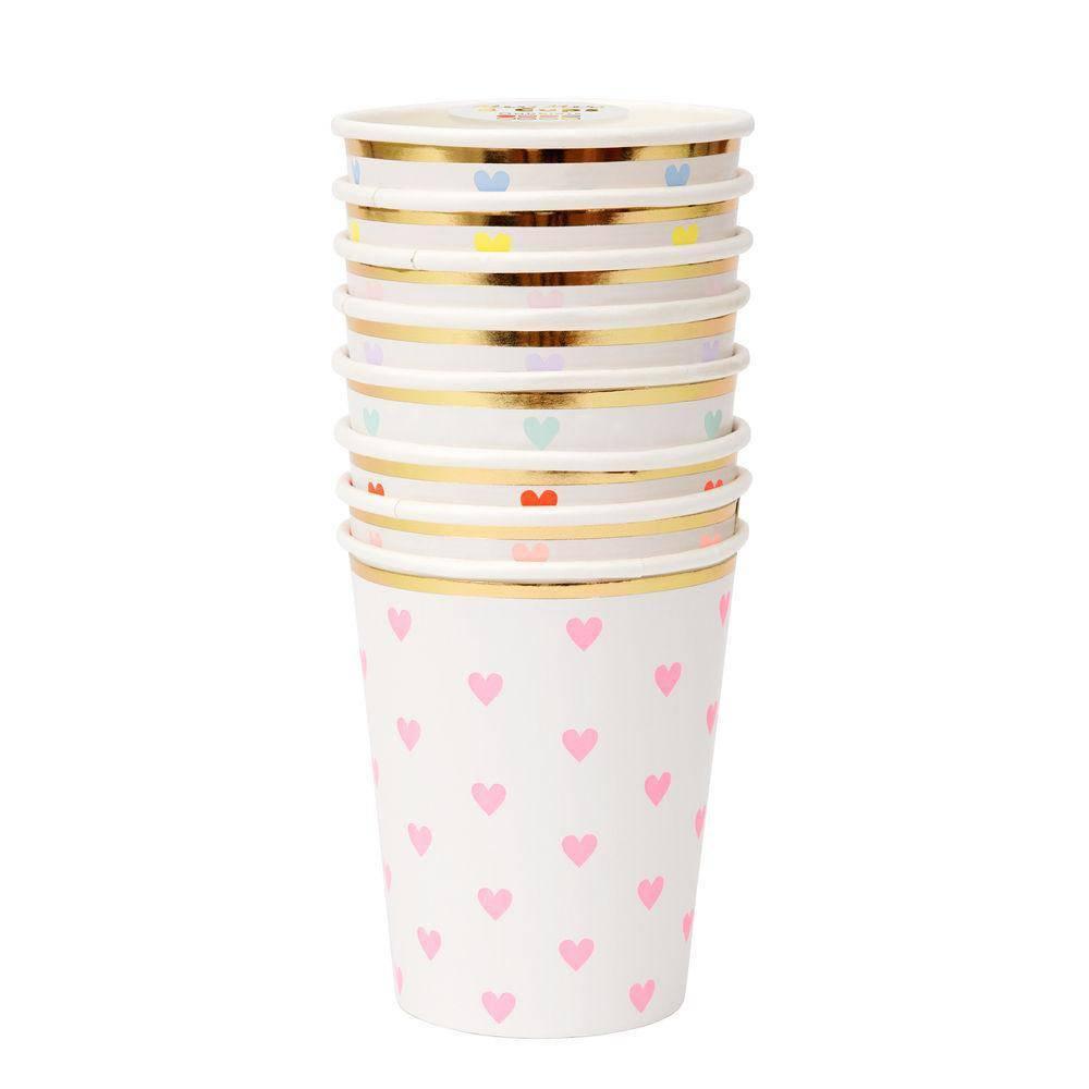 Meri Meri MEM PS - Rainbow Heart Cups, set of 8