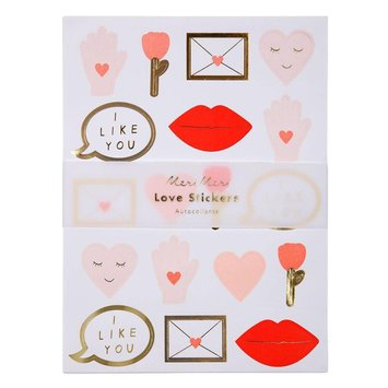 Meri Meri MEM ST - Valentine Sticker Sheet, set of 10