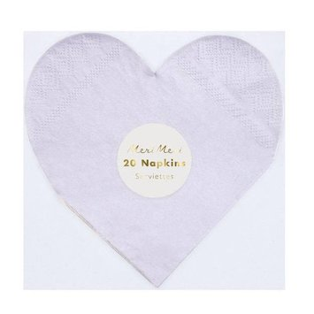 Meri Meri MEM PS - Rainbow Heart Napkins, set of 20
