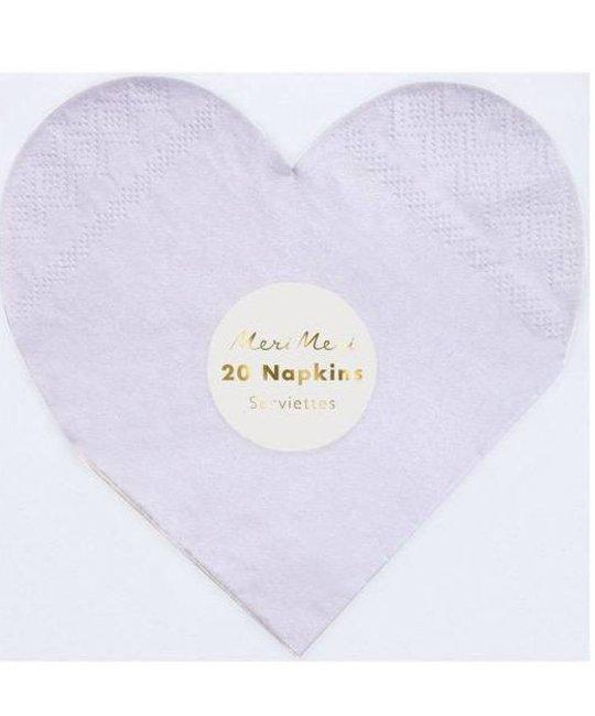 Meri Meri Rainbow Heart Napkins