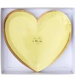Meri Meri Rainbow Heart Plates