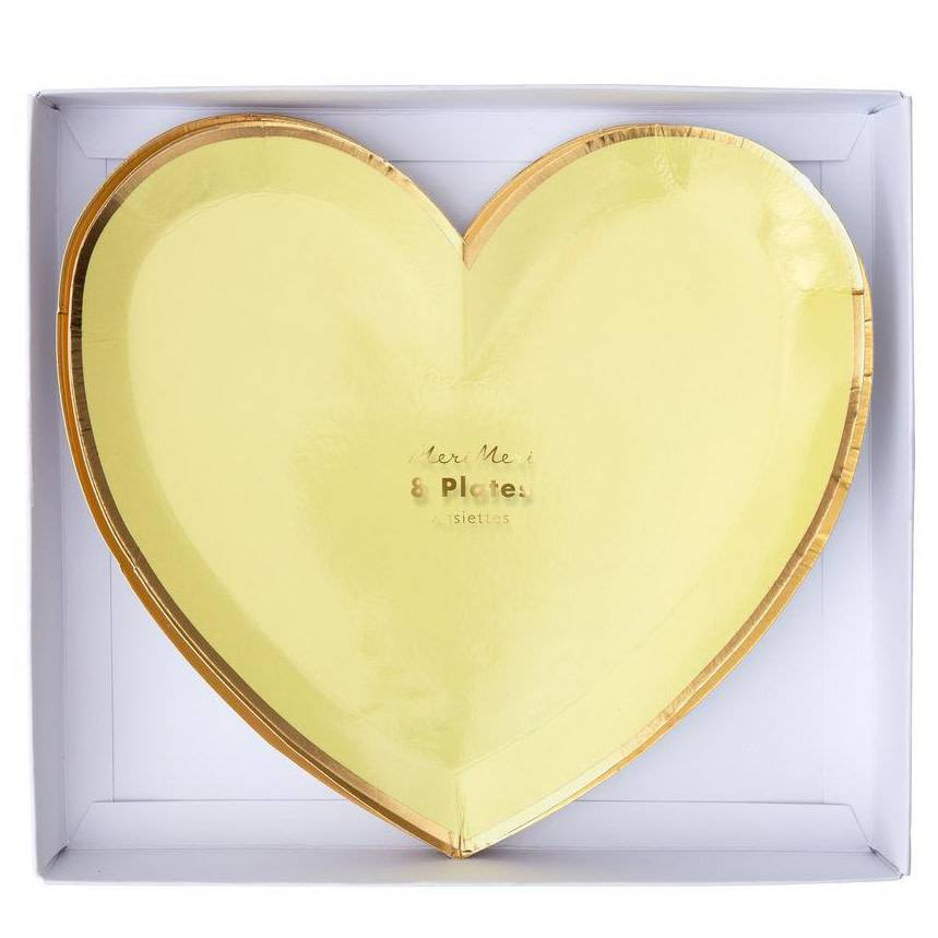 Meri Meri MEM PS - Rainbow Heart Plates, set of 8