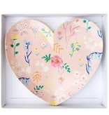 Meri Meri Floral Patterned Heart Plates