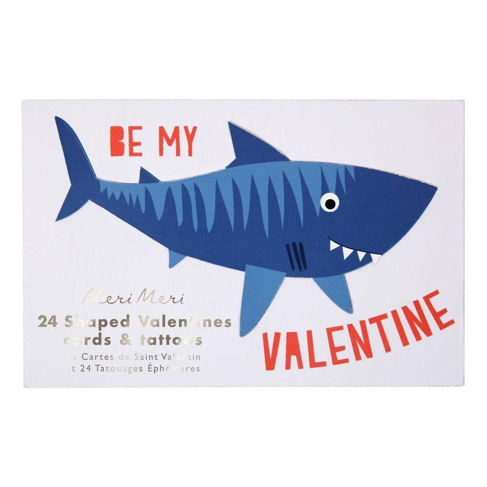Meri Meri MEM NS - Shark Valentine Note Set, set of 24