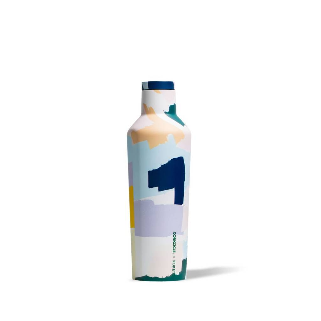 Corkcicle Poketo X Corkcicle White Brush Stroke Canteen