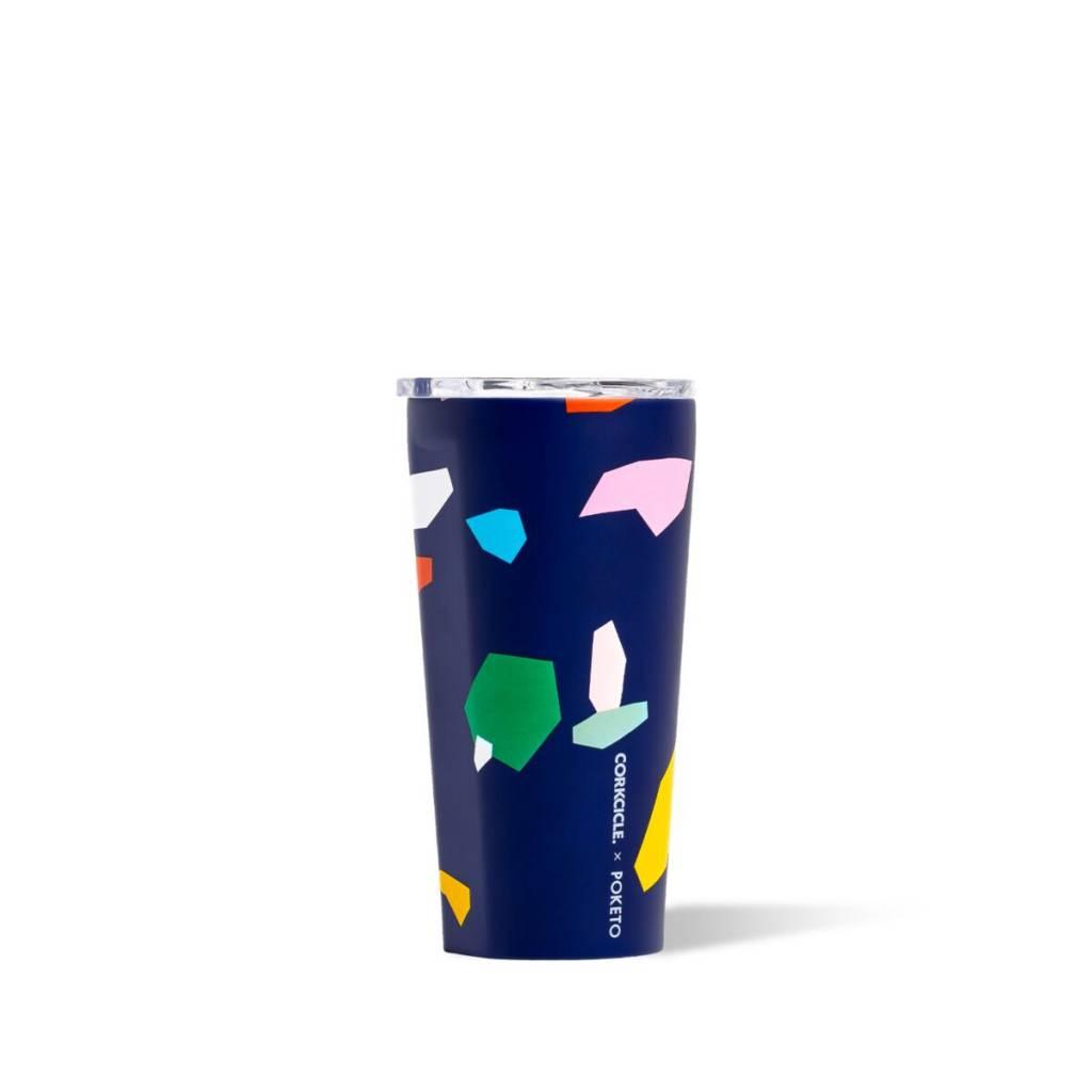 Corkcicle Poketo x Corkcicle Blue Confetti Tumbler