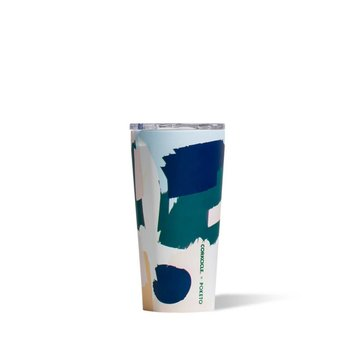 Corkcicle Poketo x Corkcicle White Brush Stroke Tumbler