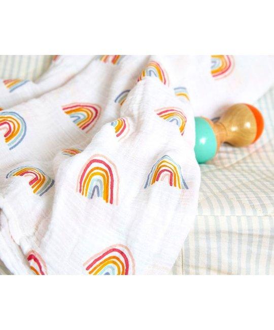 Pehr - PE Pehr Rainbow Swaddle Blanket