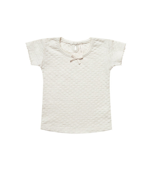Quincy Mae Quincy Mae - Pointelle Tee