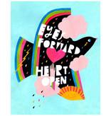 Lisa Congdon Lisa Congdon Eyes Forward Heart Open Print, 11x14