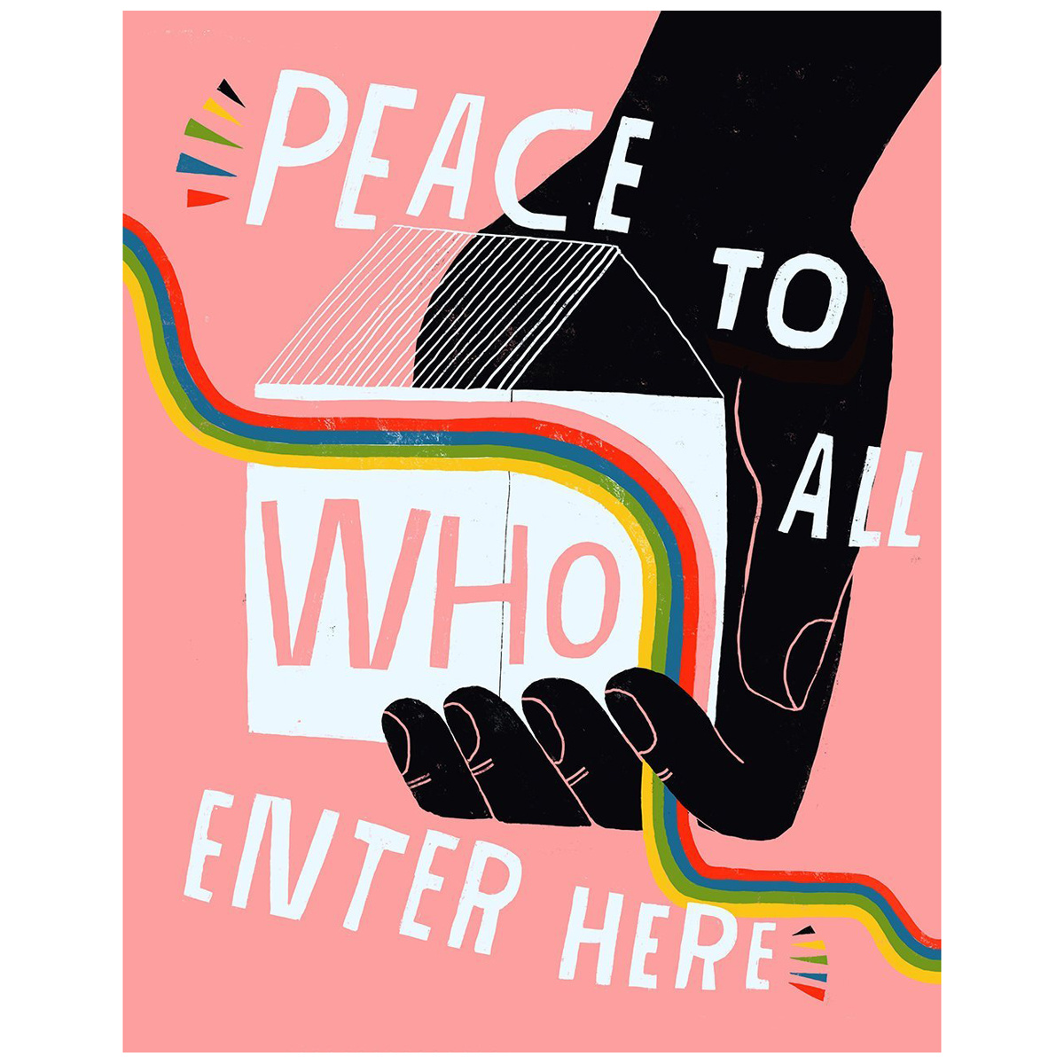 Lisa Congdon Lisa CongdonPeace to All Print, 11x14