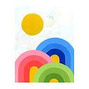 Lisa Congdon Lisa Congdon Rainbow Trifecta Print, 11x14