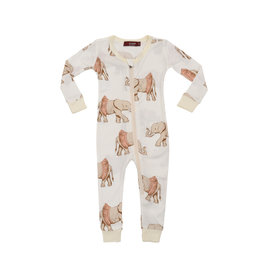 Milkbarn Tutu Elephant Bamboo Zipper Pajama