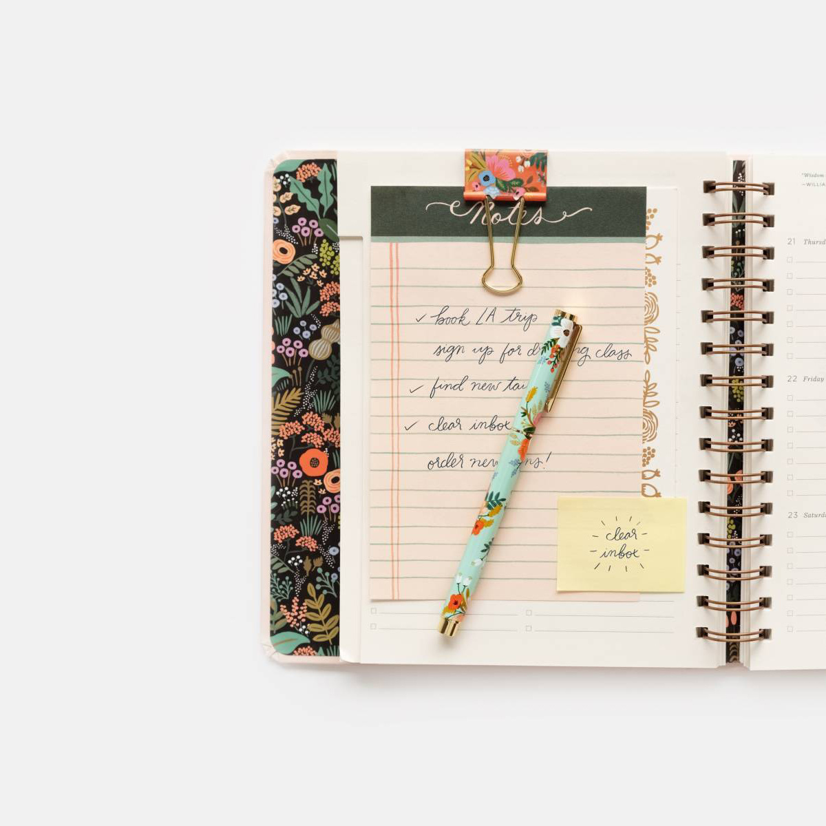 Rifle Paper Co. Rifle Paper Lively Floral Binder Clips, set of 8