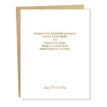 Sapling Press - SAP Cursive Letters Mother's Day Card