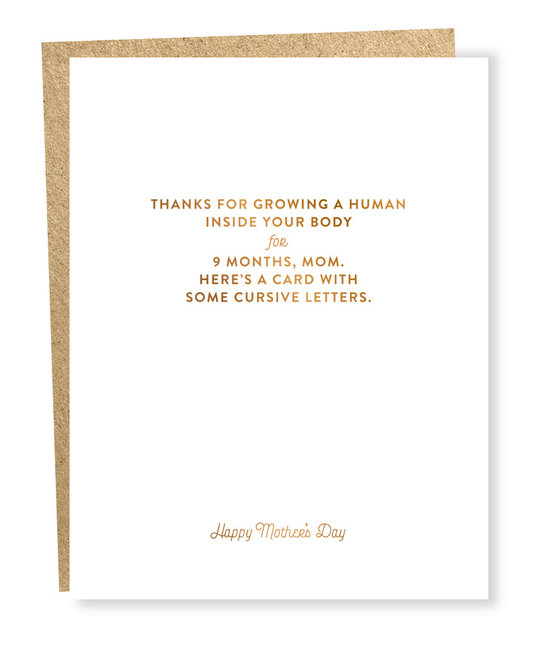 Sapling Press Cursive Letters Mother's Day