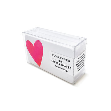 E. Frances Paper Studio - EF EF ECBS - Big Heart Little Notes, set of 85
