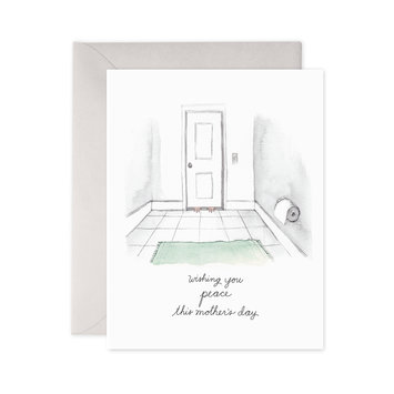 E. Frances Paper Studio Bathroom Peace Greeting Card