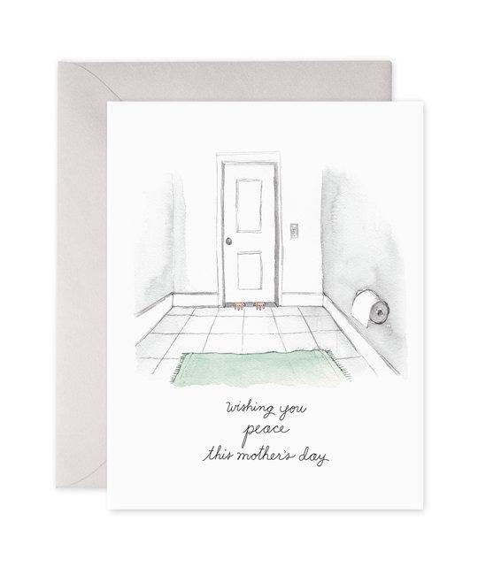 E. Frances Paper Studio Bathroom Peace Greeting Card
