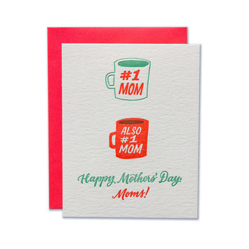 Ladyfingers Letterpress Number 1 Moms Greeting Card