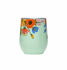 Corkcicle Rifle Paper Co. x Corkcicle Mint Lively Floral Stemless