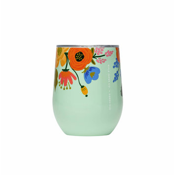Corkcicle - CO Rifle Paper Co. x Corkcicle Mint Lively Floral Stemless
