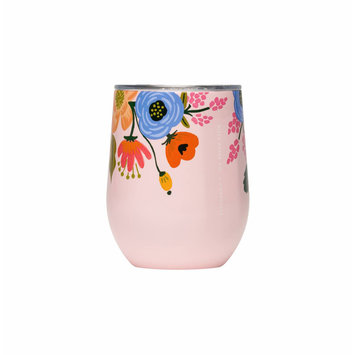 Corkcicle - CO Rifle Paper Co. x Corkcicle Blush Lively Floral Stemless
