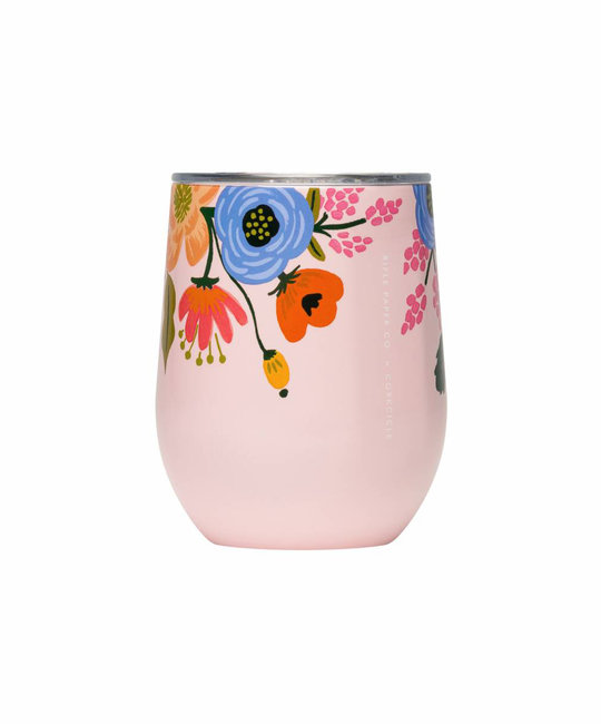 Corkcicle Rifle Paper Co. x Corkcicle Blush Lively Floral Stemless