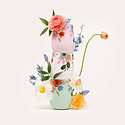 Corkcicle - CO Rifle Paper Co x Corkcicle Cream Lively Floral Stemless