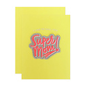 The Social Type Super Mom Card + Patch