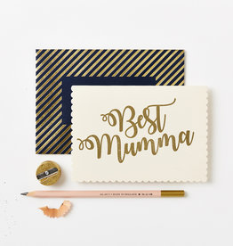 Katie Leamon Gold Best Mumma Greeting Card