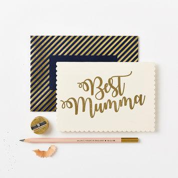Katie Leamon Gold Best Mumma Greeting Card