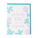 Smudge Ink Clover Stepmom Greeting Card
