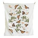 June and December - JD Monarchs + Milkweeds Tea Towel