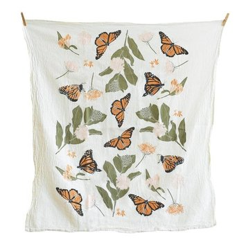 June and December - JD Monarchs + Milkweeds Tea Towel