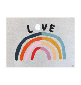 Castle and Things Love Rainbow Art Tea Towel