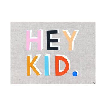 Castle and Things Hey Kid Art Tea Towel