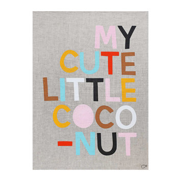 Castle and Things My Cute Little  Coconut Art Tea Towel