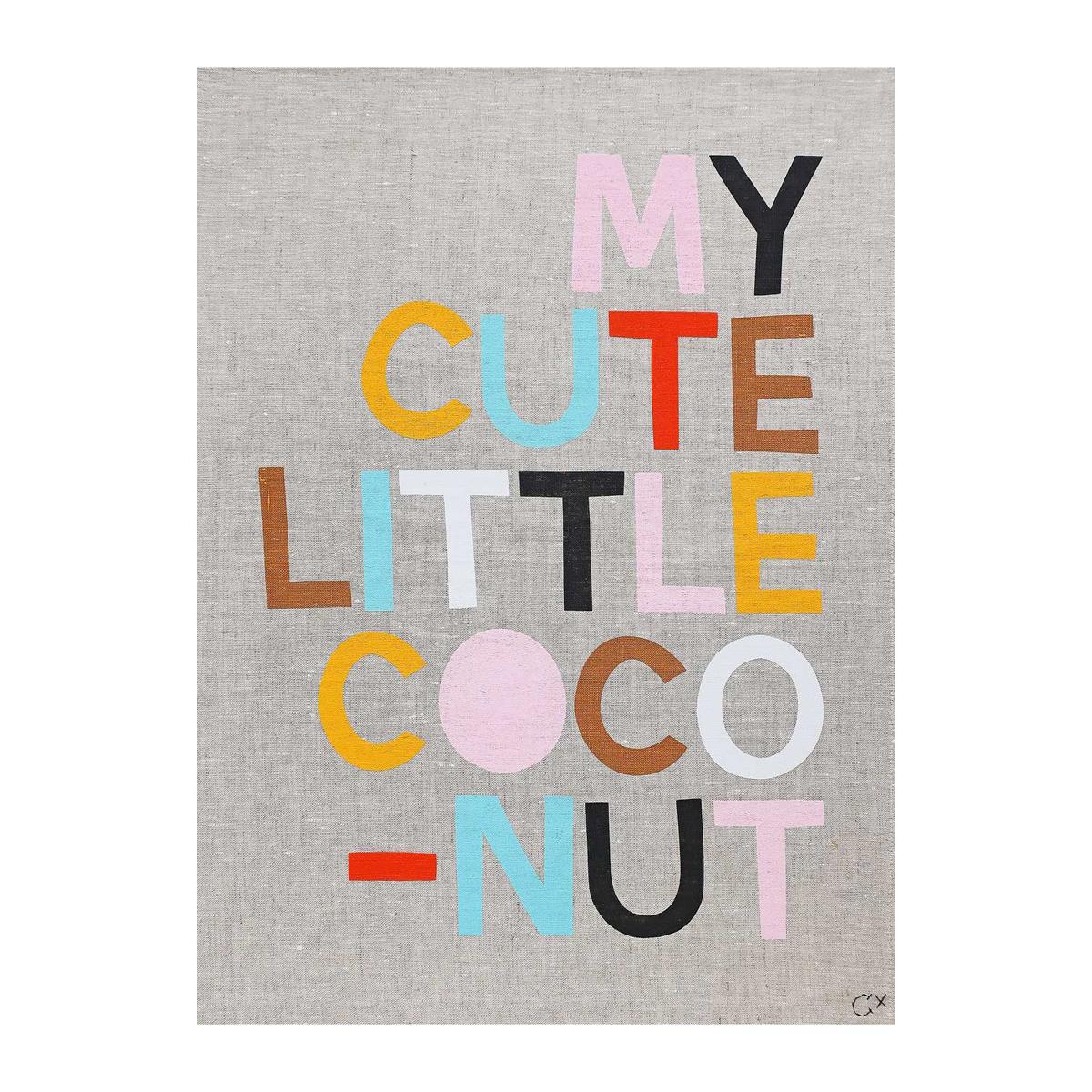 Castle and Things My Cute Little  Coconut Art Tea Towel