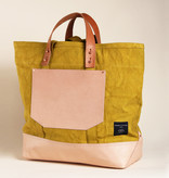 IMMODEST COTTON x Fleabags IMC BA - Chartreuse East West Bucket Tote