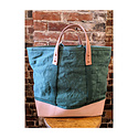 IMMODEST COTTON x Fleabags Immodest Cotton - East West Bucket Tote, Pine